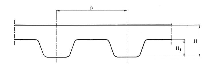 Profil remeň XL-L-H-XH