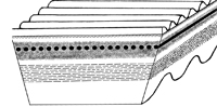 Variátorové remene rezané obojstranné