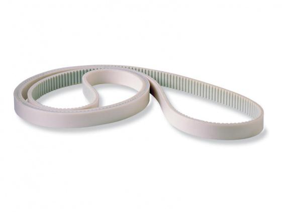 Povrchová úprava biela guma pre dopravu bez šmúh
