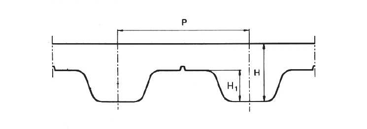 Profil remeň T